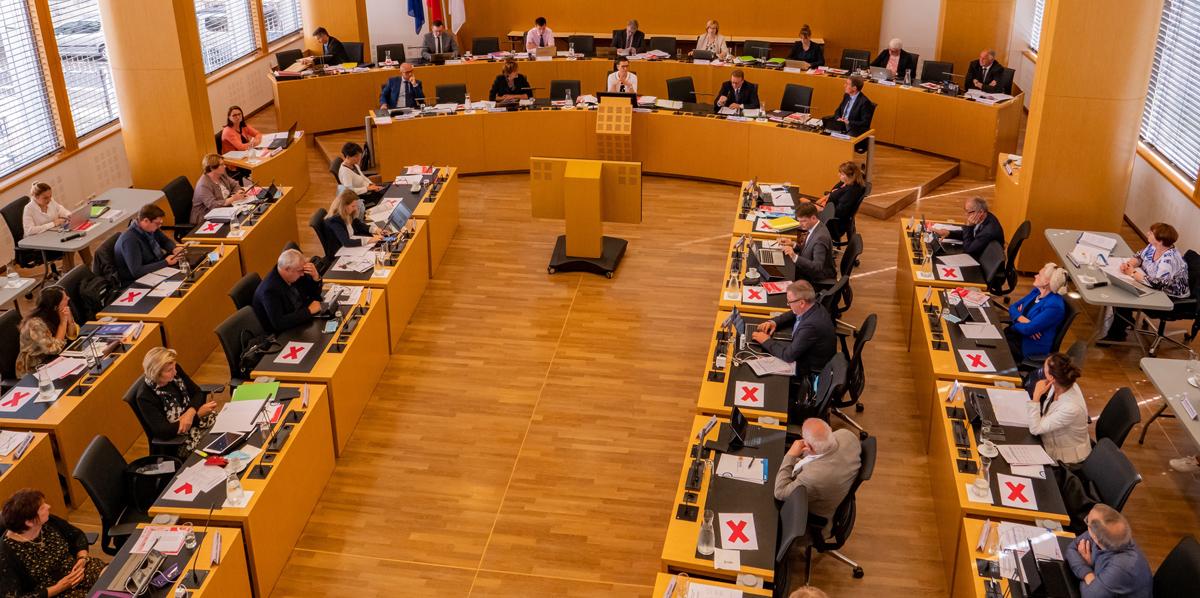 Photographie de l'assemblée départementale du 22 juin
